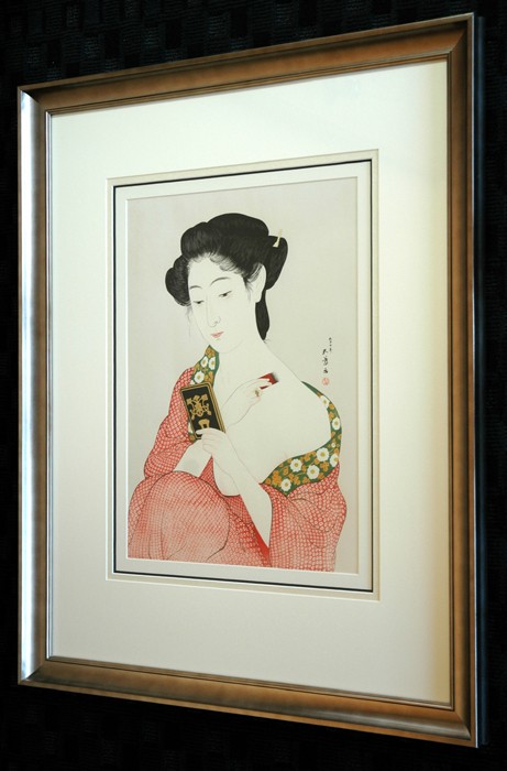 How to frame prints Art Httpwwwfujiartscomauctionimagesuploadsframing The Frame Fuji Arts Japanese Prints Fuji Arts Japanese Prints
