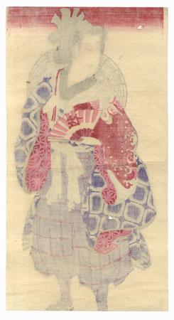 Beauty Dressed for a Festival by Meiji era artist (unsigned)