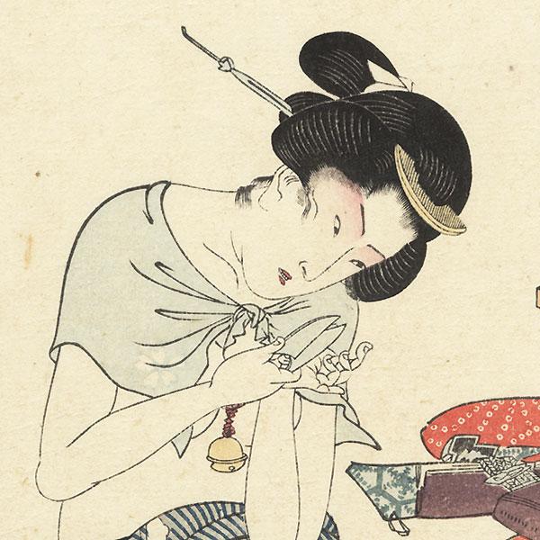 Nicho-machi by Toyokuni III/Kunisada (1786 - 1864)