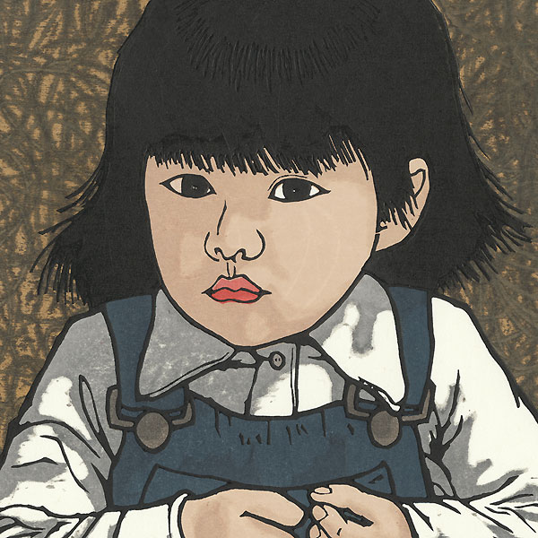 Crouching Child by Nishijima (born 1945)