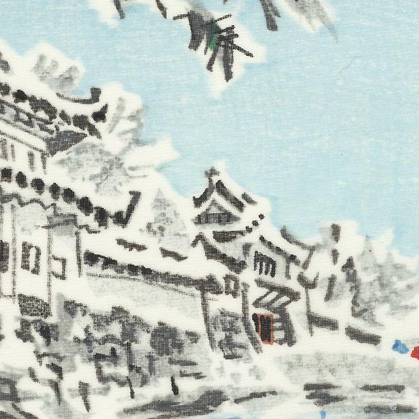 Castle in Winter by Shin-hanga & Modern artist (unsigned)