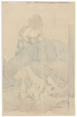 Mother and Baby under Mosquito Netting by Utamaro (1750 - 1806)