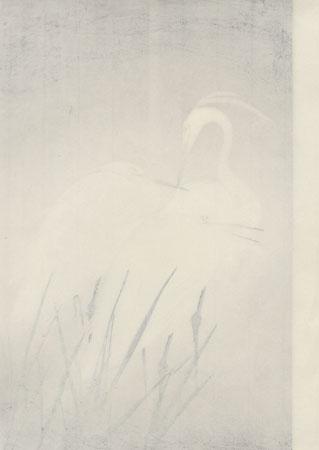 Snowy Herons by Koei Hashimoto (1893 - ?)