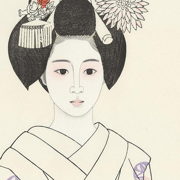 Young Maiko by Tateishi Harumi (1906 - 1994)