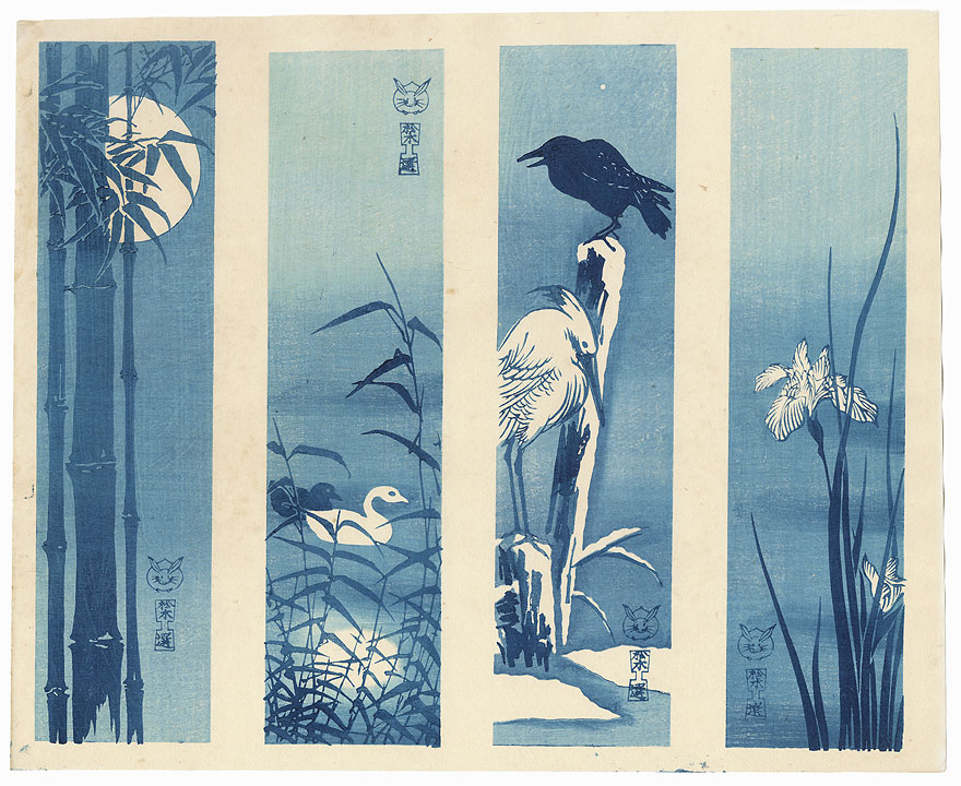Aizuri-e Tanzaku Prints  by 20th century artist (not translated)