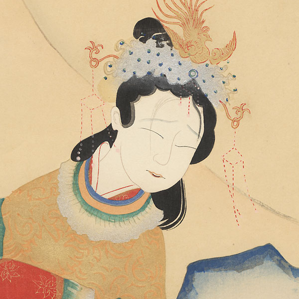 Kokusen'ya Kassen - A Lady in Chinese Costume by Suisho Nishiyama (1879 - 1958)