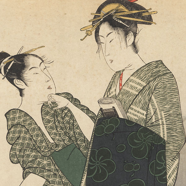 Visiting Komachi  by Toyokuni I (1769 - 1825)