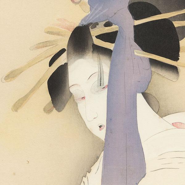 The Heroine Yugiri, 1923 by Shima Seien (1892 - 1970)