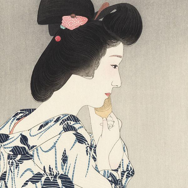 Summer Kimono, Iris by Torii Kotondo (1900 - 1976)