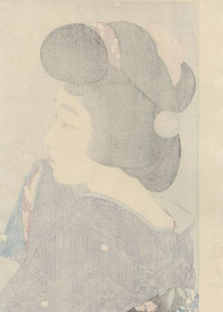 Misty Springtime Moon by Torii Kotondo (1900 - 1976)