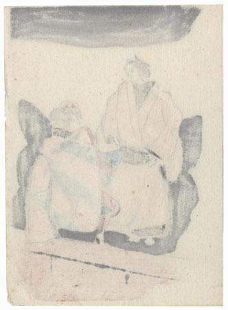 Bunraku Puppet Performance by Shin-hanga & Modern artist (not read)