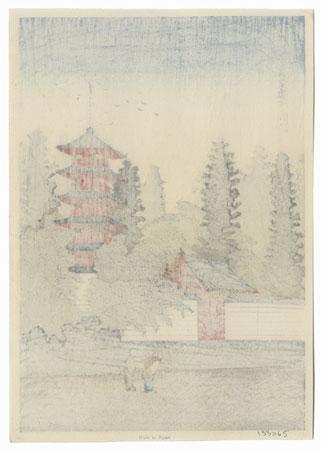 Temple of Kinugasa, circa 1930s by Shotei (Takahashi Hiroaki) (1871 - 1945)