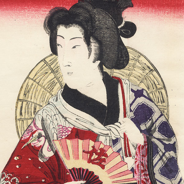Beauty Dressed for a Festival by Meiji era artist (unsigned)