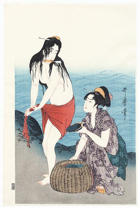 Awabi Divers by Utamaro (1750 - 1806)