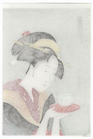 Appearing Again; Naniwaya Okita by Utamaro (1750 - 1806)