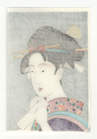 Osome of the Aburaya by Utamaro (1750 - 1806)