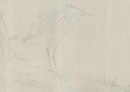 Wading Bird by Shin-hanga & Modern artist (not read)