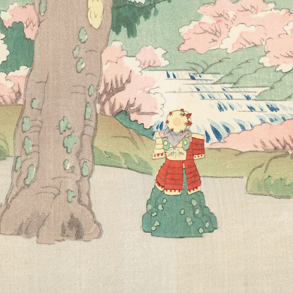 Bunraku Puppet Stage Setting for Yoshitsune Sembon Zakura by Konobu (1914 - 1999)