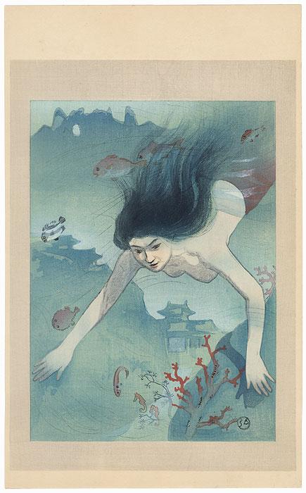 The Heroine Matsukaze by Hiromitsu Nakazawa (1874 - 1964)