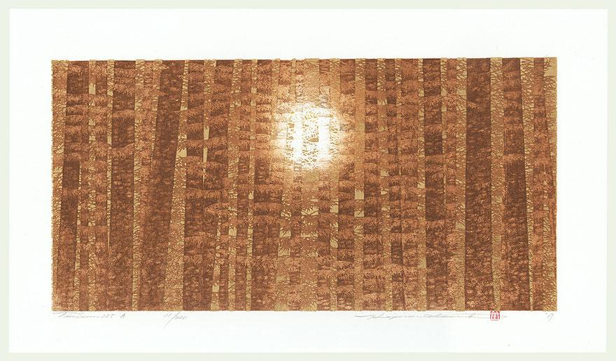 Treescene 155 A, 2019 by Hajime Namiki (born 1947)