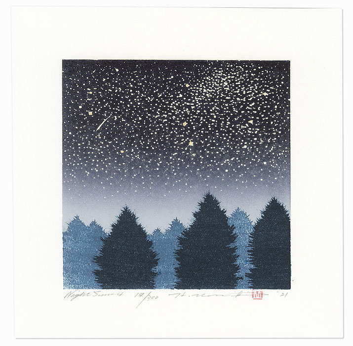 Night Scene 4, 2021 by Hajime Namiki (born 1947)