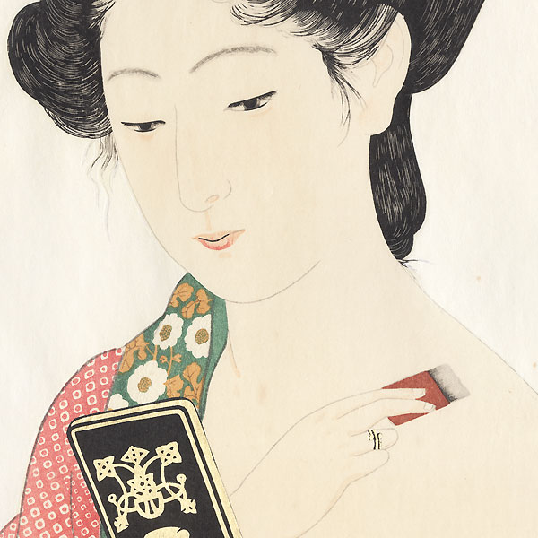 Beauty Applying Powder, 1920 by Hashiguchi Goyo (1880 - 1921)