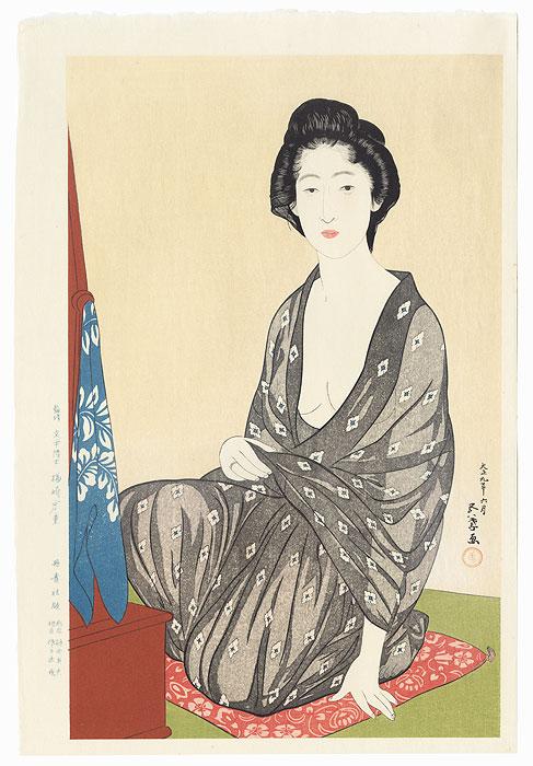 Beauty in Summer Kimono, 1920<br /> Limited Edition Commemorative Print by Hashiguchi Goyo (1880 - 1921)