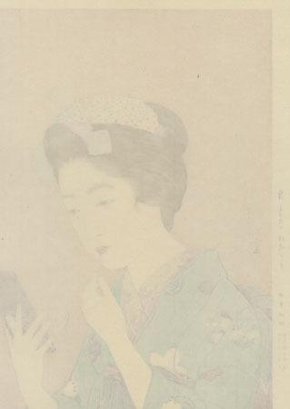 Beauty Applying Lipstick, 1920 - Limited Edition Commemorative Print by Hashiguchi Goyo (1880 - 1921)