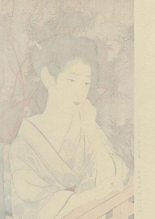 Hot Springs Inn, 1920 - Limited Edition Commemorative Print by Hashiguchi Goyo (1880 - 1921)