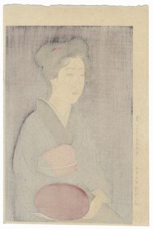 Waitress with Tray, 1920 - Limited Edition Commemorative Print by Hashiguchi Goyo (1880 - 1921)