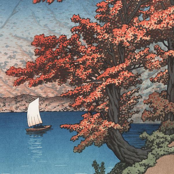 Nikko Chuzenji Lake, 1930 by Hasui (1883 - 1957)