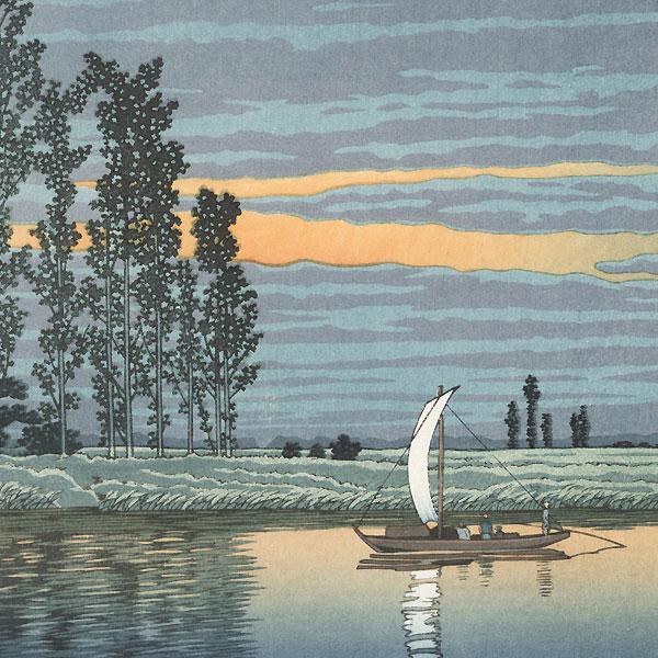 Twilight at Ushibori, 1930 by Hasui (1883 - 1957)