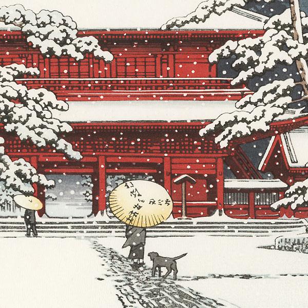 Zojoji Temple in Snow, 1929 by Hasui (1883 - 1957)