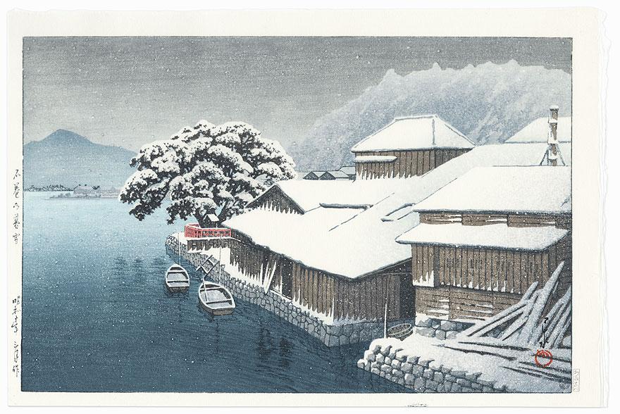 Ishinomaki in the Snow, 1935 by Hasui (1883 - 1957)