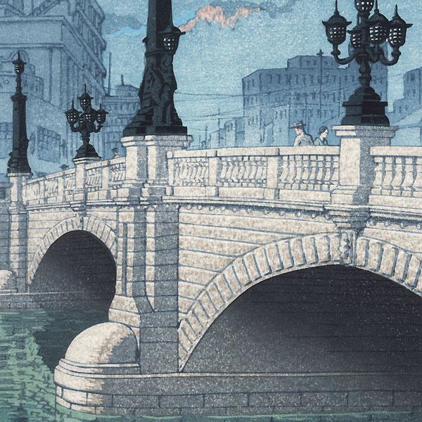 Dawn at the Nihon Bridge, 1940 by Hasui (1883 - 1957)
