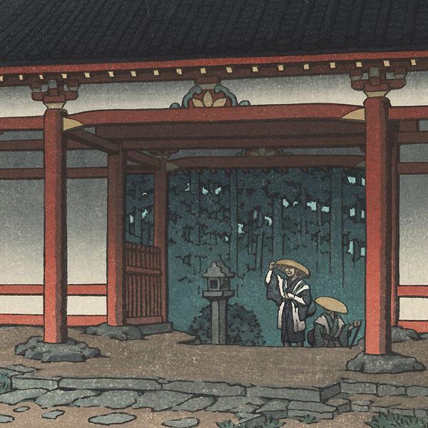 Tsubosaka Temple, Yamato, 1950 by Hasui (1883 - 1957)