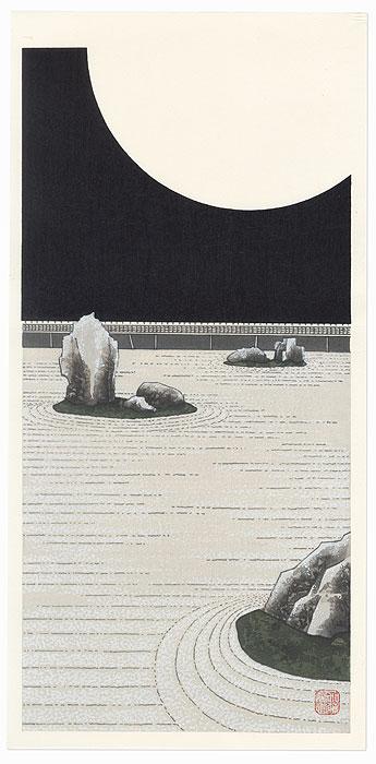 Bright Moonlight at Ryoanji Temple (Kagayaki) by Teruhide Kato (1936 - 2015)