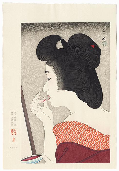 Lip Rouge by Torii Kotondo (1900 - 1976)