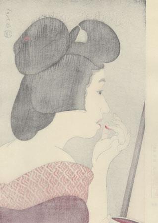 Lip Rouge - Limited Edition Commemorative Print by Torii Kotondo (1900 - 1976)