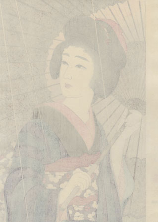 Rain - Limited Edition Commemorative Print by Torii Kotondo (1900 - 1976)