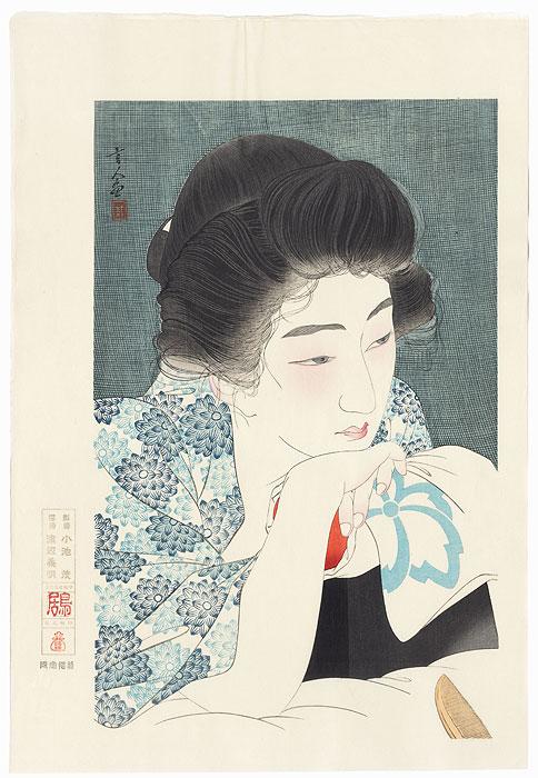 Morning Hair - Limited Edition Commemorative Print by Torii Kotondo (1900 - 1976)