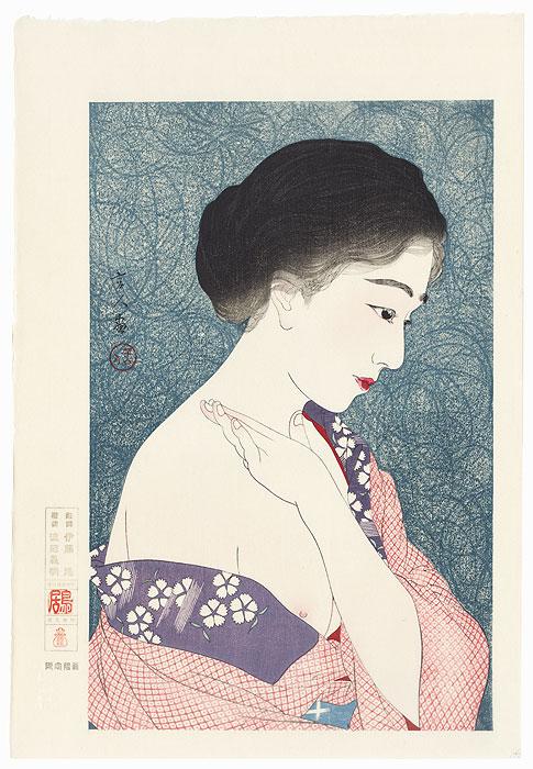 Applying Powder - Limited Edition Commemorative Print by Torii Kotondo (1900 - 1976)