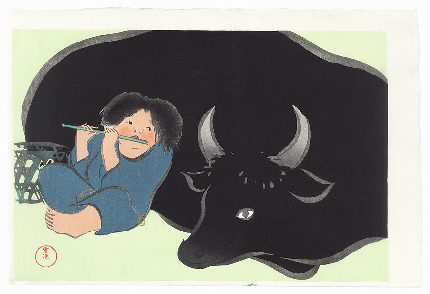 Cowherd by Kamisaka Sekka (1866 - 1942)