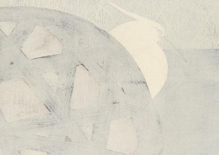 White Heron by Kamisaka Sekka (1866 - 1942)