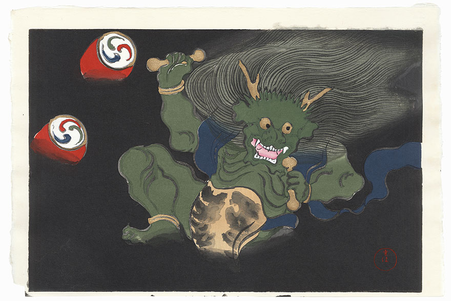 The Thunder God Raijin by Kamisaka Sekka (1866 - 1942)
