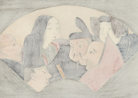 The Six Poetry Immortals by Kamisaka Sekka (1866 - 1942)