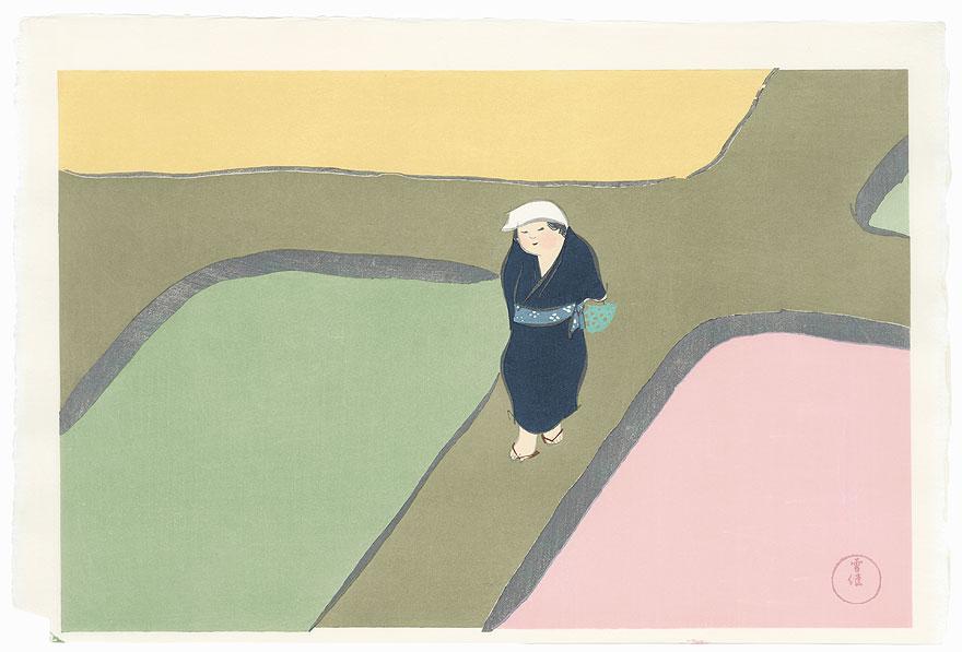 Spring Fields by Kamisaka Sekka (1866 - 1942)