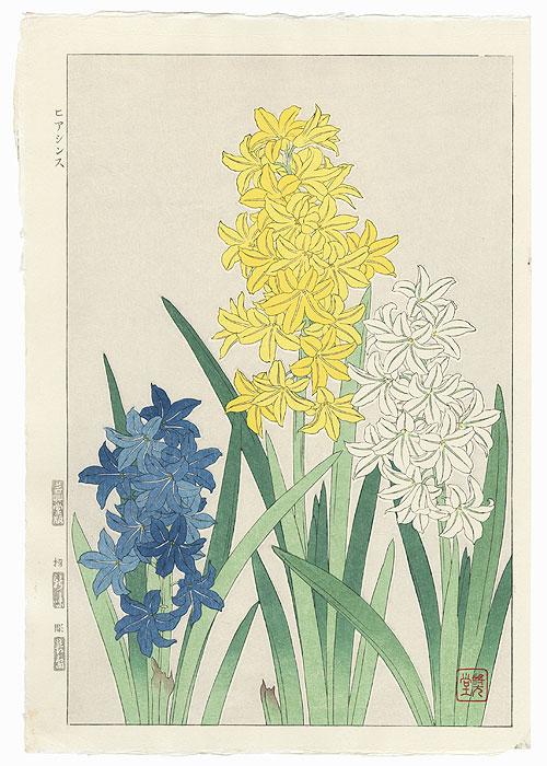 Hyacinths by Kawarazaki Shodo (1889 - 1973)