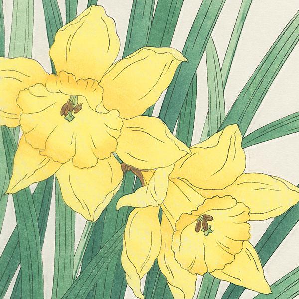 Three Daffodils by Kawarazaki Shodo (1889 - 1973)