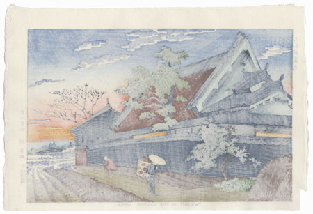Twilight in the Village, Nara, 1953 by Takeji Asano (1900 - 1999)